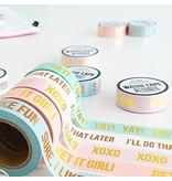 Masking tape Yeah write