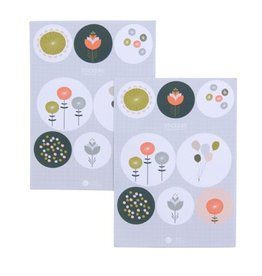 Poppy flower stickers