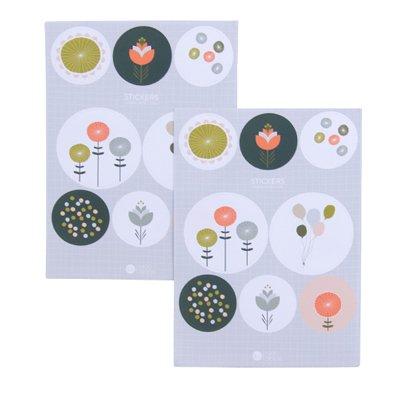 Poppy flower stickers