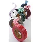 MT washi tape stripe salmon pink