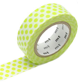MT  MT masking tape dot lime