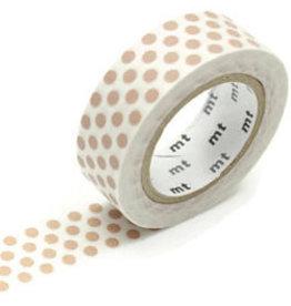 MT  MT washi tape dot milk tea