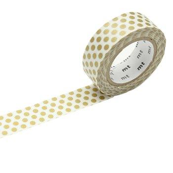 MT washi tape dot gold 2