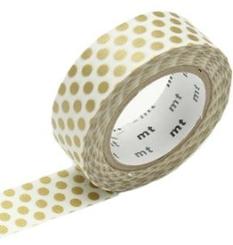 MT  MT washi tape dot gold 2