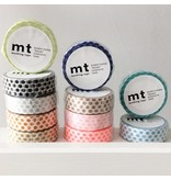 MT masking tape dot zilver