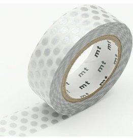 MT  MT masking tape dot zilver
