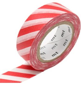 MT  MT washi tape wide stripe red