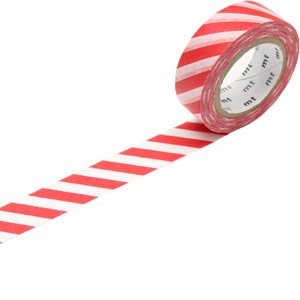 MT washi tape wide stripe red