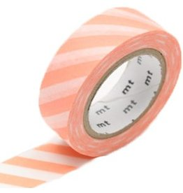 MT  MT washi tape stripe salmon pink