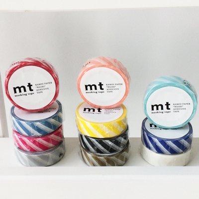 MT washi tape stripe grayish sky
