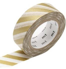 MT  MT washi tape stripe gold 2