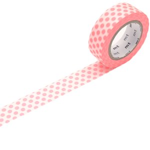 MT washi tape dot shocking red