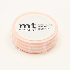 MT washi tape border peach cream
