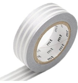 MT  MT washi tape border silver 2