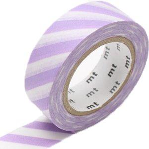 MT washi tape stripe lilac