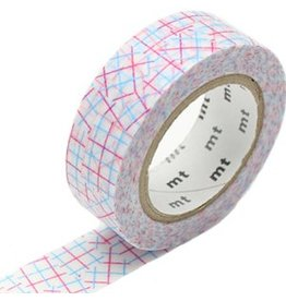 MT  MT washi tape check collage pink
