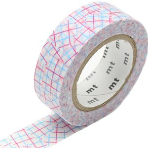 MT washi tape check collage pink