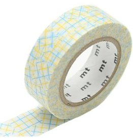 MT  MT washi tape check collage yellow