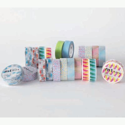 MT washi tape check collage yellow