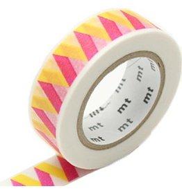 MT  MT washi tape rickrack geel