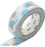 MT masking tape overlapped dot blue