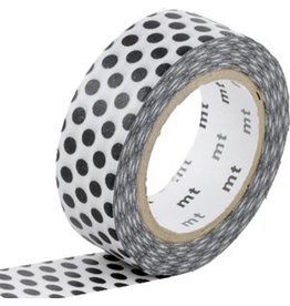 MT  MT washi tape dot black 2