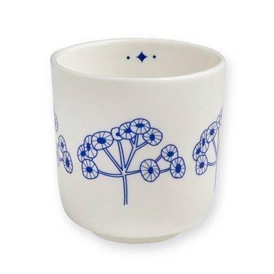 Porseleinen bekertje fleurs bleu