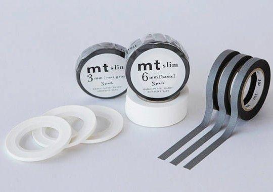 MT masking tape slim set white 3 mm