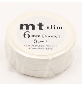 MT  MT masking tape slim set white 6 mm