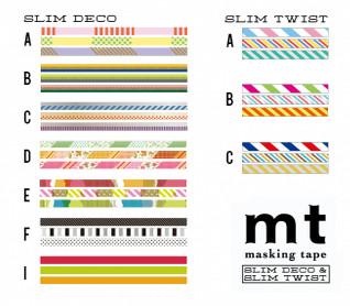MT masking tape slim set gray 3 mm