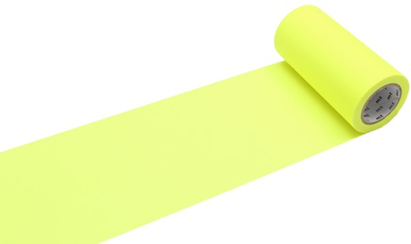 MT washi tape casa shocking yellow 100 mm