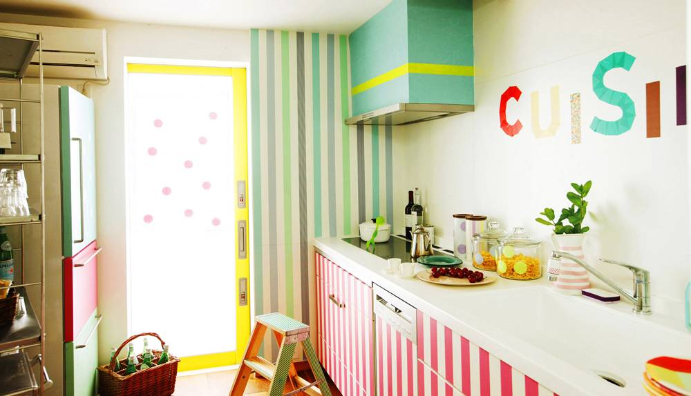 MT washi tape casa  geel 50 mm