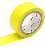 MT washi tape fab Fluor geel