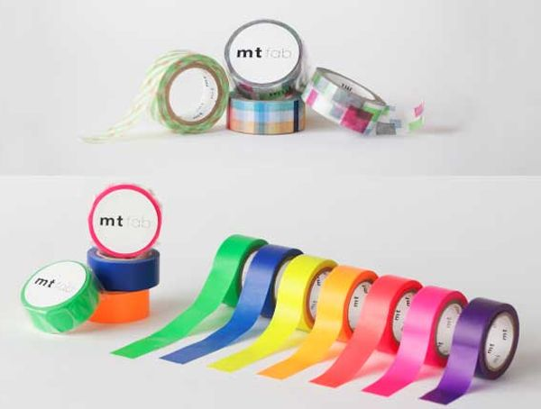 MT masking tape fab Fluor cyan blue