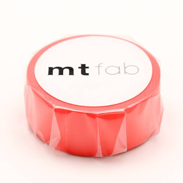 MT washi tape fab Fluor red