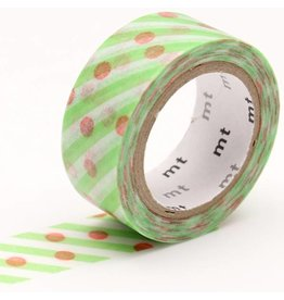 MT  MT washi tape fab Dot x Stripe
