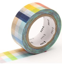 MT  MT masking tape fab Plaid