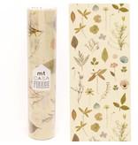 MT casa washi fleece pressed flower