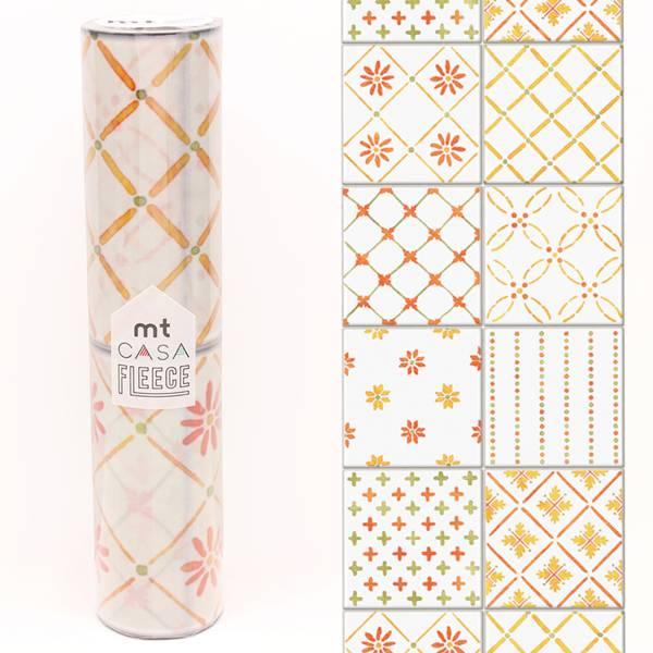 MT casa washi fleece tile orange