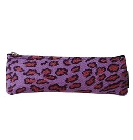 Huisteil creaties Pennenetui Huisteil Purple Leopard