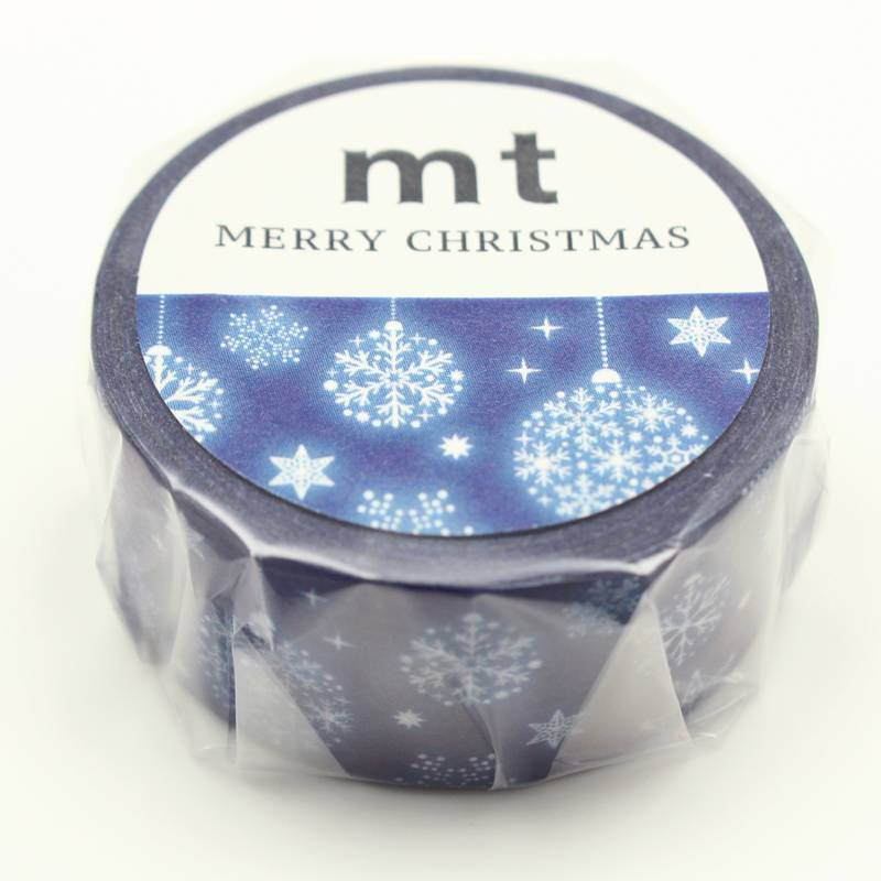 MT washi tape Kerst Blue ornament