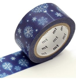 MT  MT washi tape Kerst Blue ornament