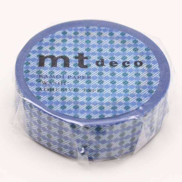 MT washi tape dot stripe blue