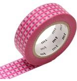 MT washi tape dot stripe pink
