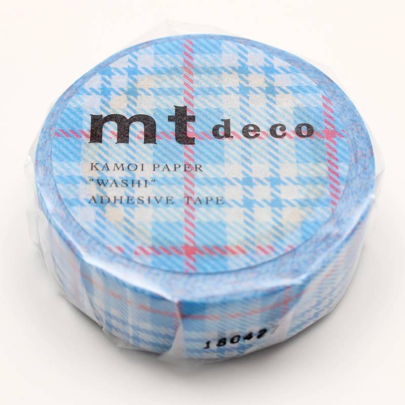 MT masking tape check light blue