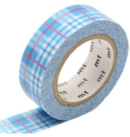 MT  MT masking tape check light blue