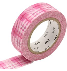 MT  MT masking tape check light pink
