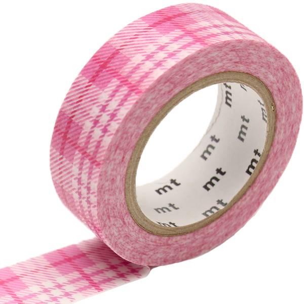 MT masking tape check light pink