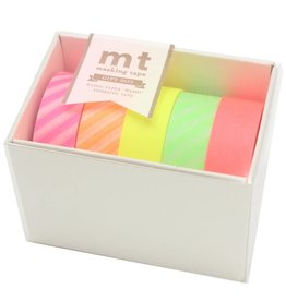 MT  MT washi tape giftbox Neon