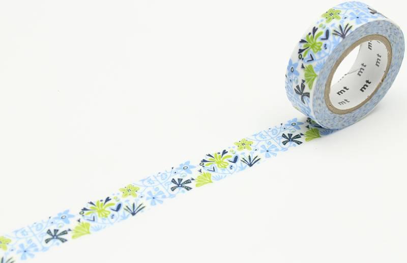MT washi tape ex Alma blue
